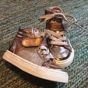 Metallic & sparkle high top sneakers size 5